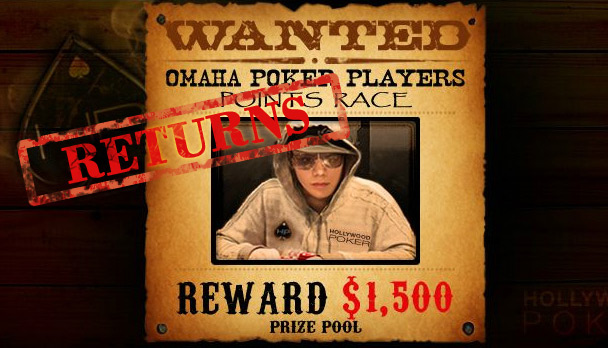 Hollywood Poker rewards you with $1,500