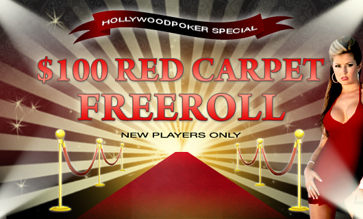 Red Carpet Freeroll at Hollywood Poker